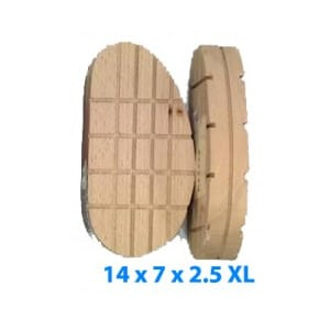 Tacos de madera - Tamaño especial 14 x 7 x 2.5 XL