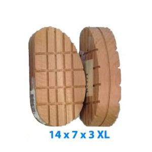 Tacos de madera - Tamaño especial 14 x 7 x 3 XL