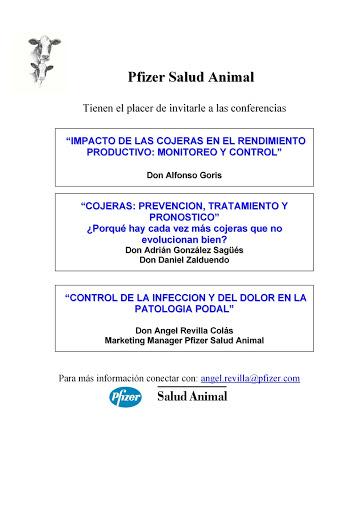 Presentación conferencias Pfizer Salud Animal
