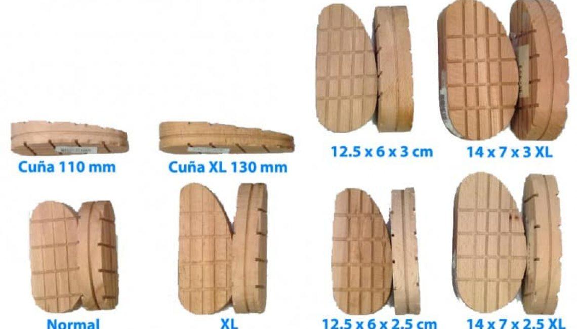 tacos de madera para pezuñas de vaca
