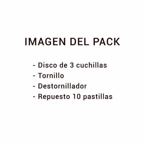 Disco AM redondo (3, 4 o 6 cuchillas) - Pack completo