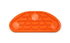 Taco Goma Naranja Standard 120mm